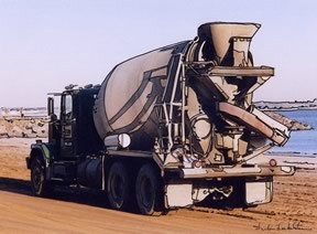 cement mixer full view